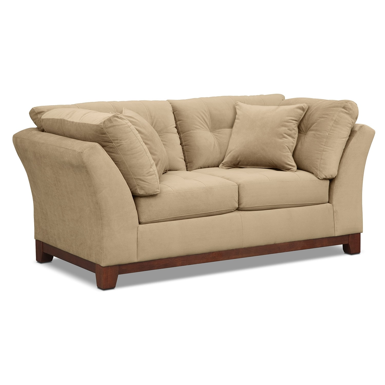 Living Room Furniture - Solace Cocoa Loveseat