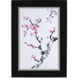 Plum Blossom II Framed Print