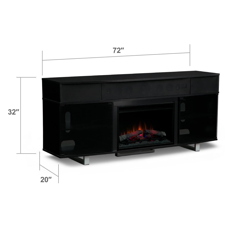 Fireplace Entertainment Center With Soundbar