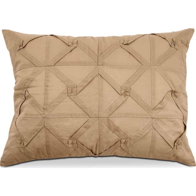 Accent and Occasional Furniture - Pomona Quilted Sham - Khaki