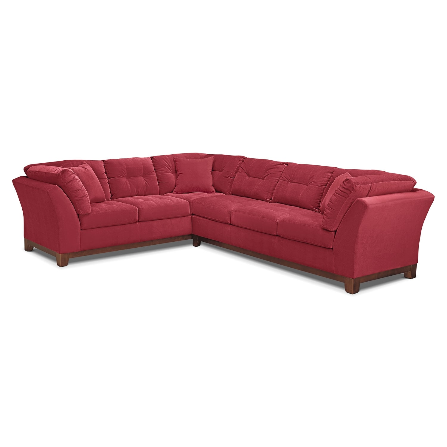 Sebring 2-Piece Sectional with Right-Facing Sofa - Poppy