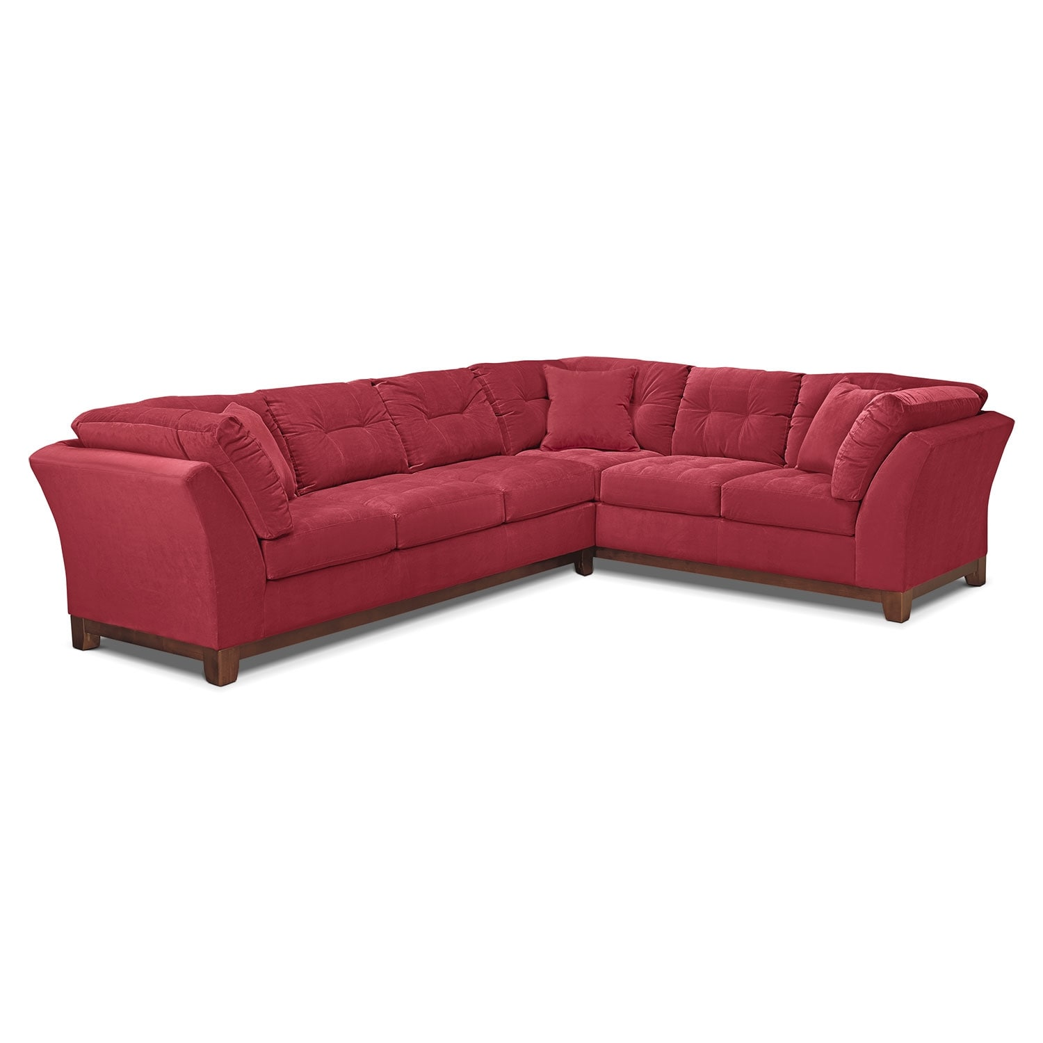 Sebring 2-Piece Sectional with Left-Facing Sofa - Poppy