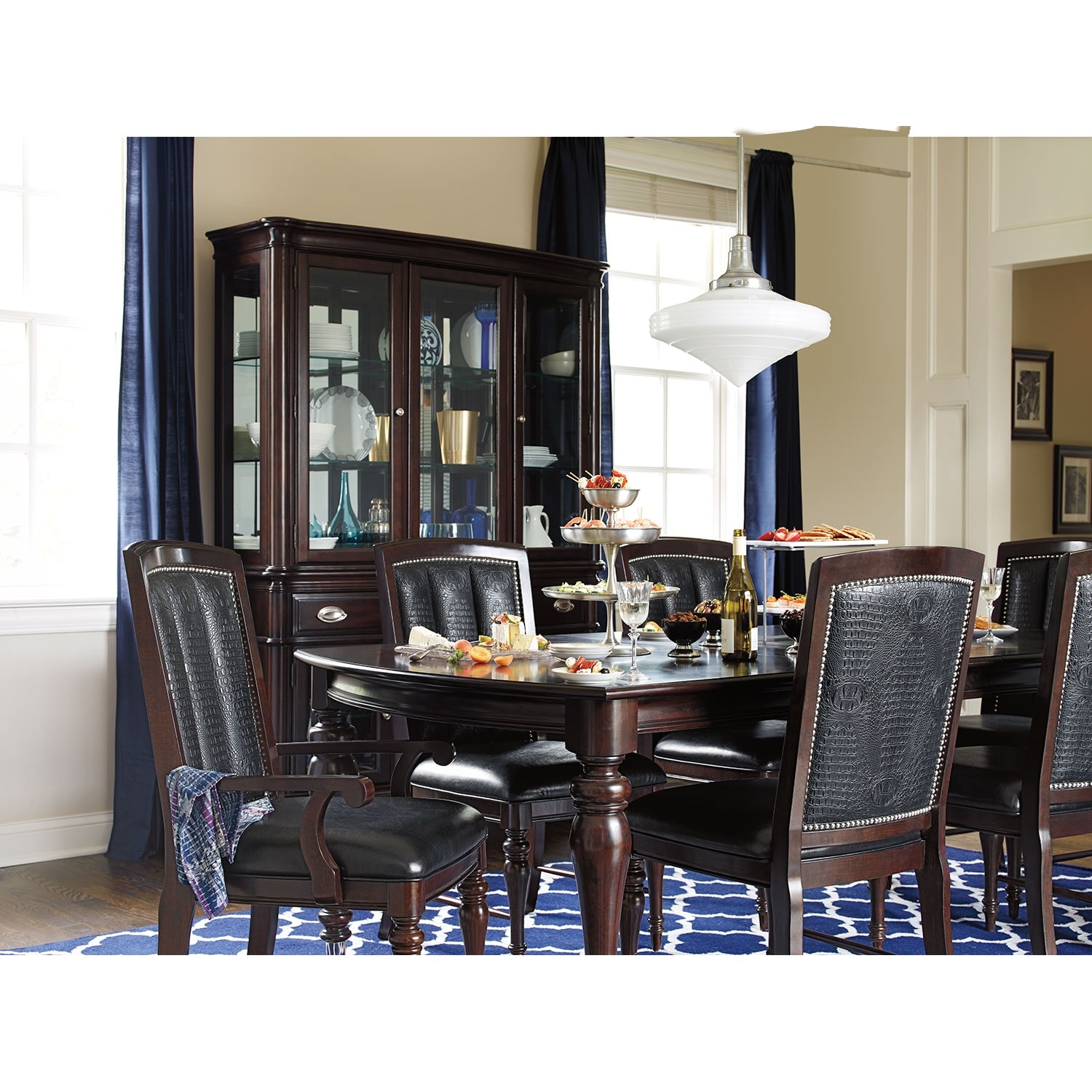Dining Room Furniture   Esquire Table And 6 Chairs   Cherry. Hover/Touch To  Zoom. Click To Change Image.