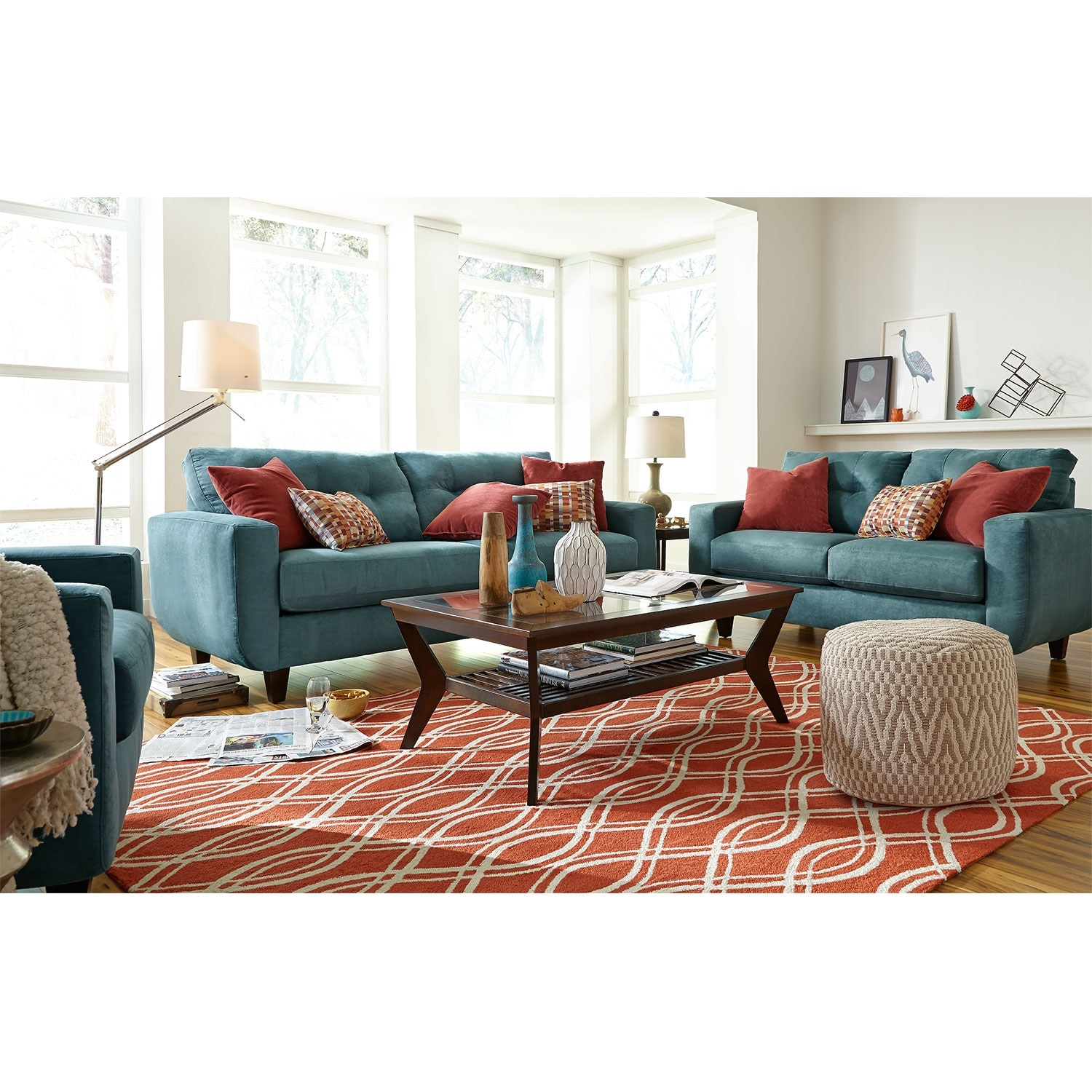 West Village Sofa Blue American Signature Furniture