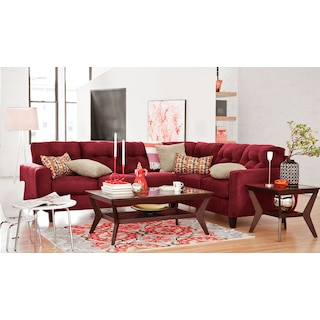 The West Village Sectional Collection - Red