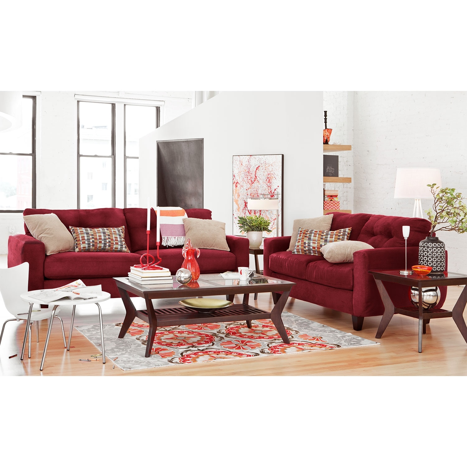 American Signature Furniture West Village Blue Ii Upholstery Trend Home Design And Decor