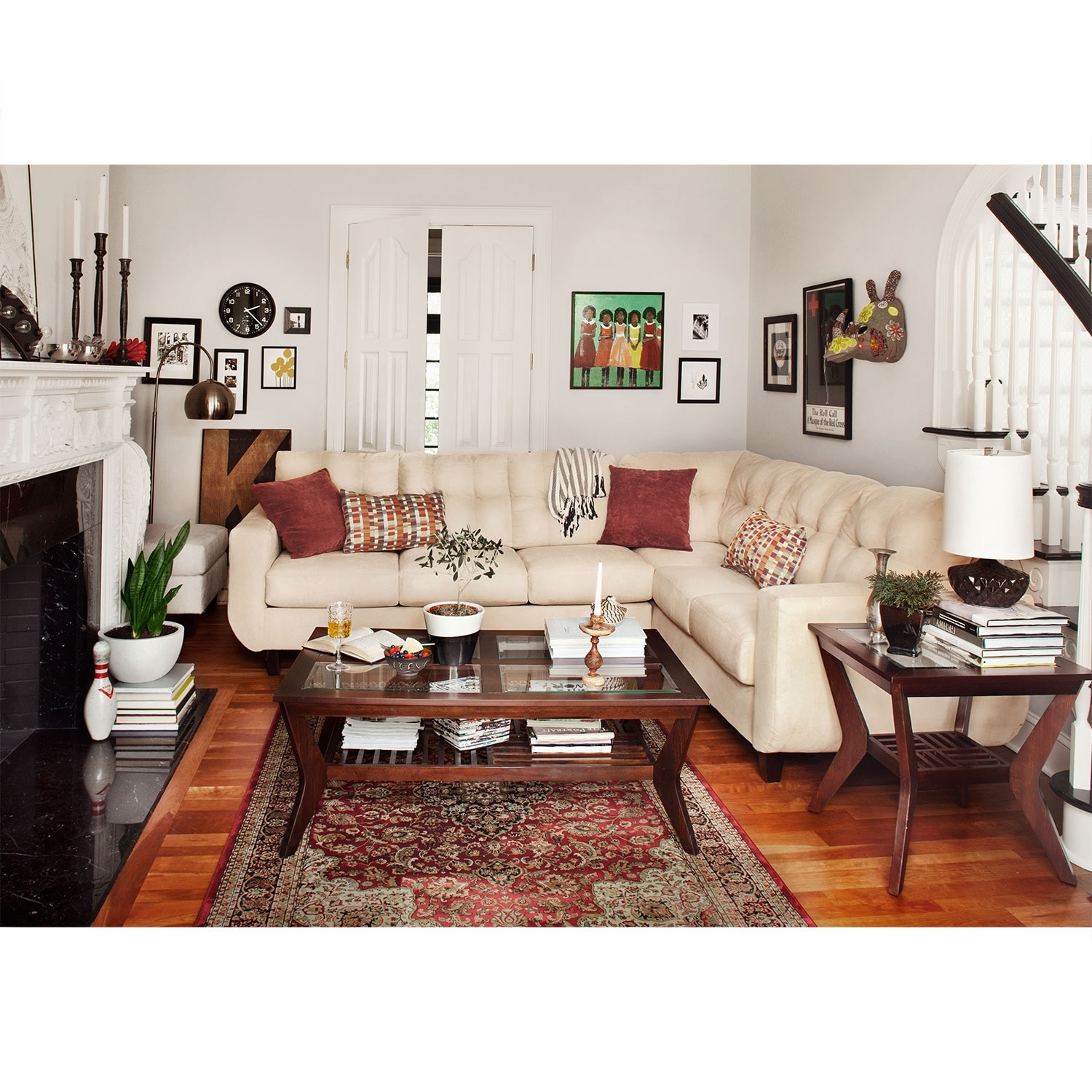 West Village 2 Piece Sectional Cream
