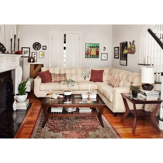 The West Village Sectional Collection - Cream