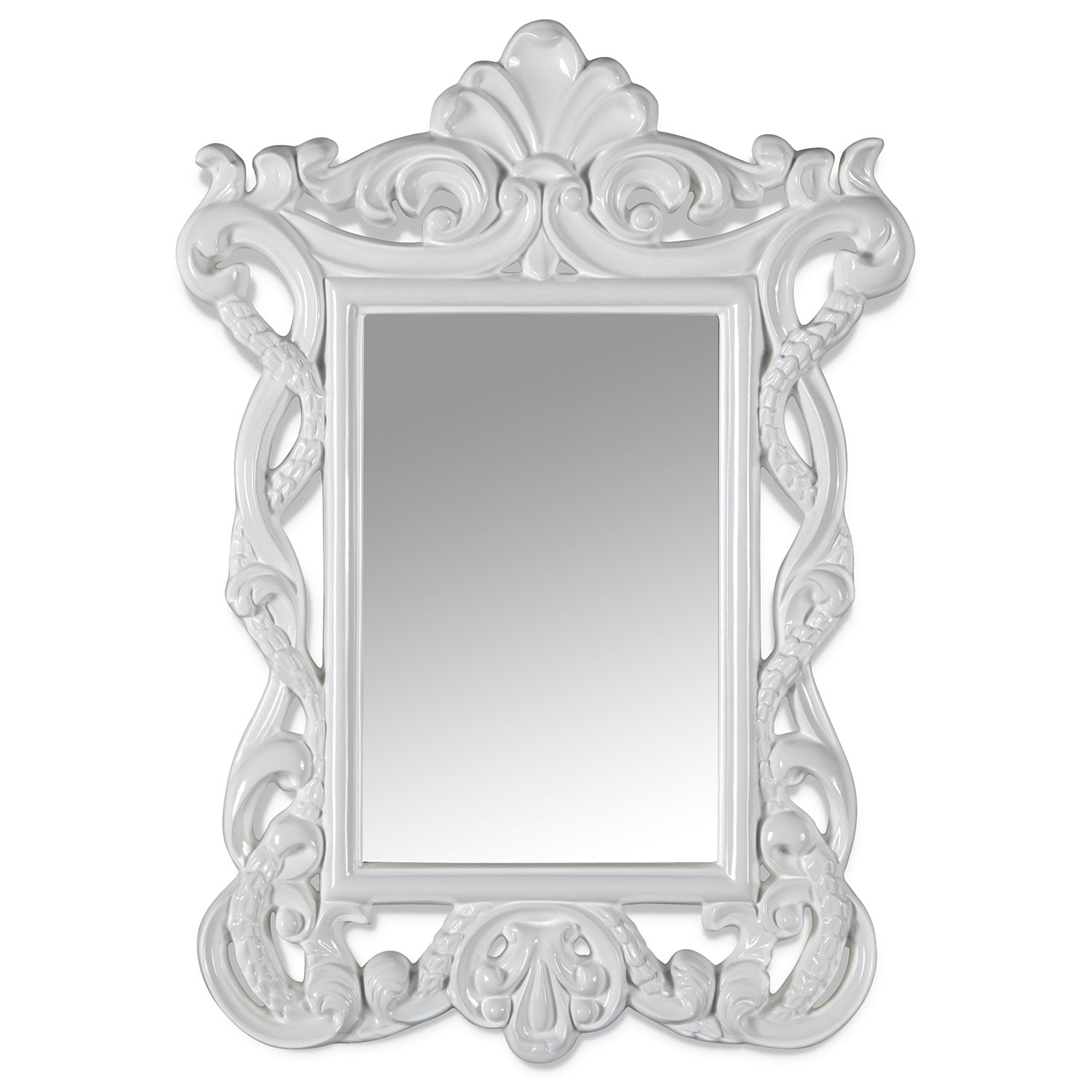 Home Accessories - Veronica Mirror (White)