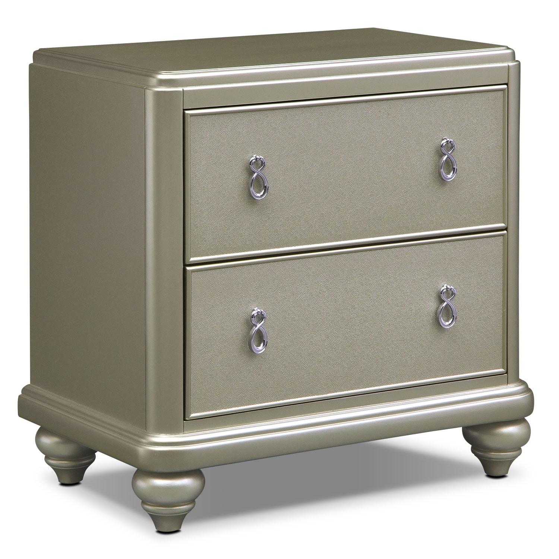 Bedroom Furniture - Serena Nightstand - Platinum