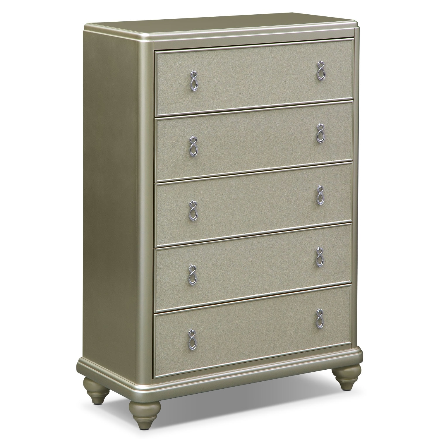 Bedroom Furniture - Serena Chest- Platinum