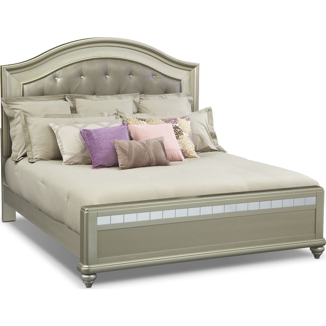 Bedroom Furniture - Serena King Bed - Platinum