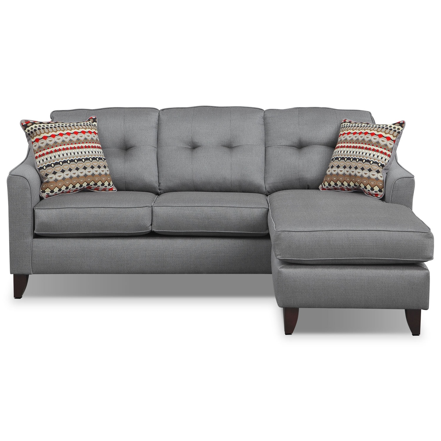 Marco gray chaise sofa by factory outlet reviews sofa for American signature furniture commercial chaise