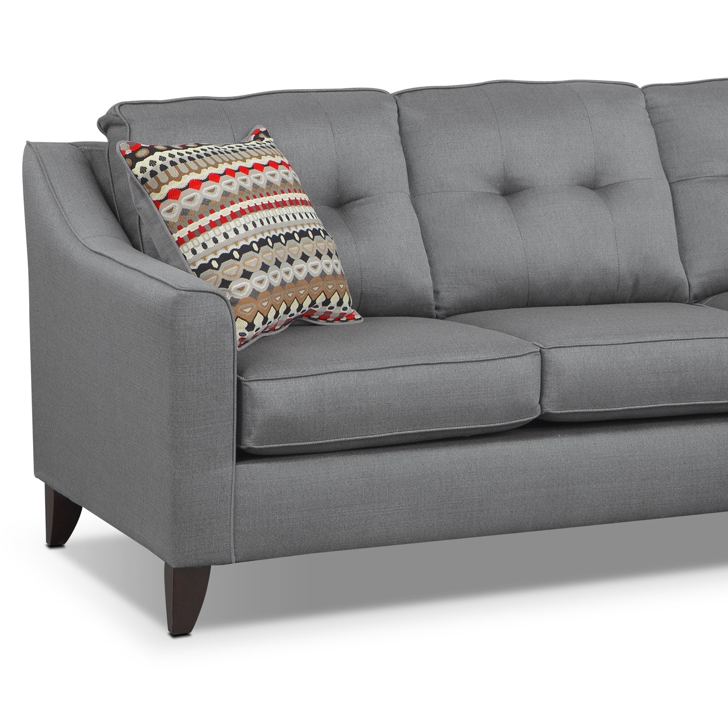 Marco chaise sofa gray american signature furniture for Chaise lounge couches