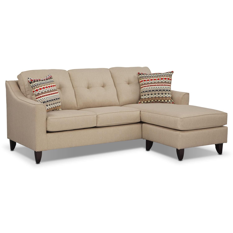 Marco chaise sofa cream american signature furniture - Living room with cream sofa ...