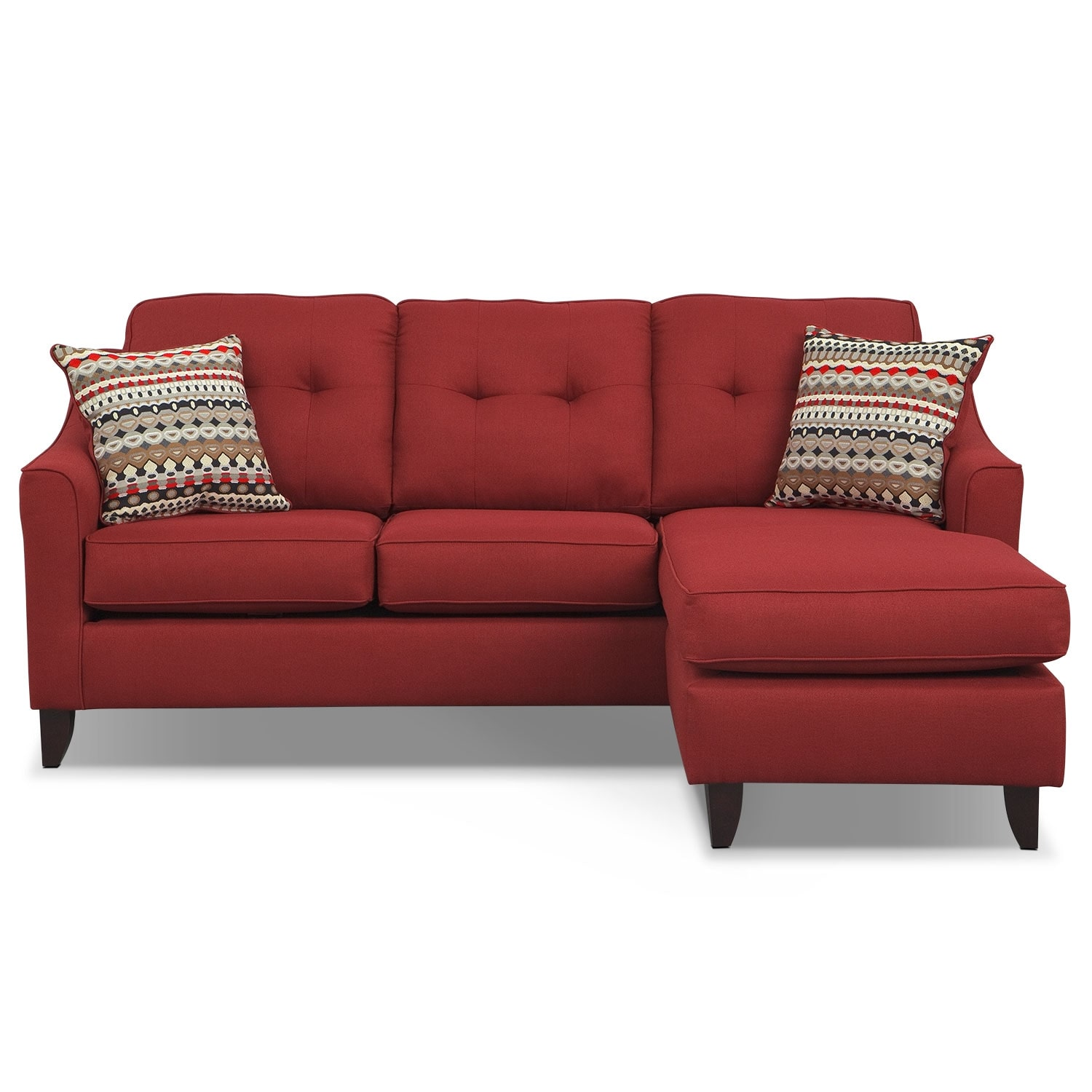 Marco Chaise Sofa Red American Signature Furniture