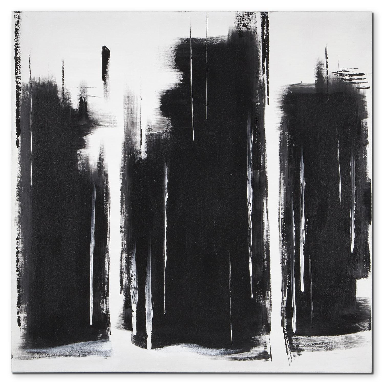 Black and White Blocks Canvas Print