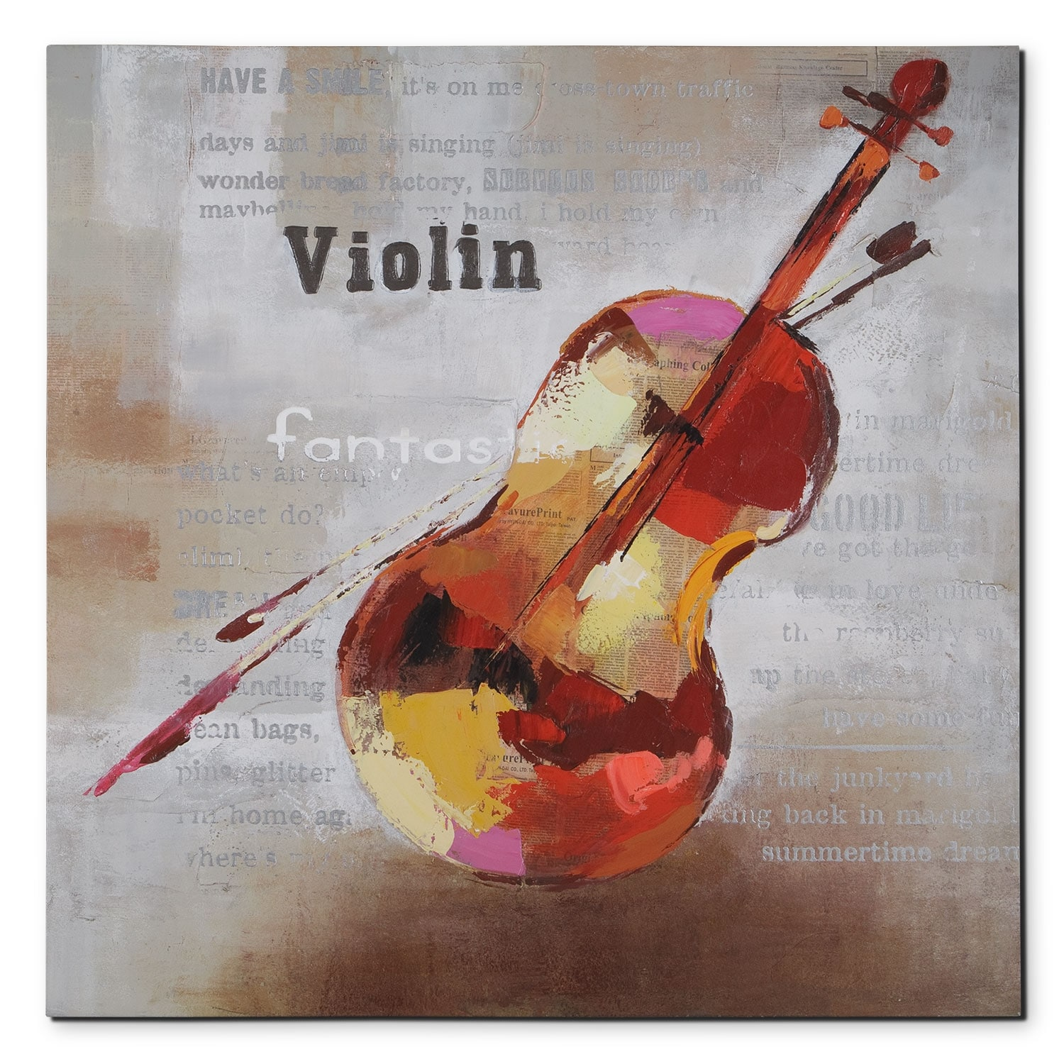 Home Accessories - Violin Canvas Print