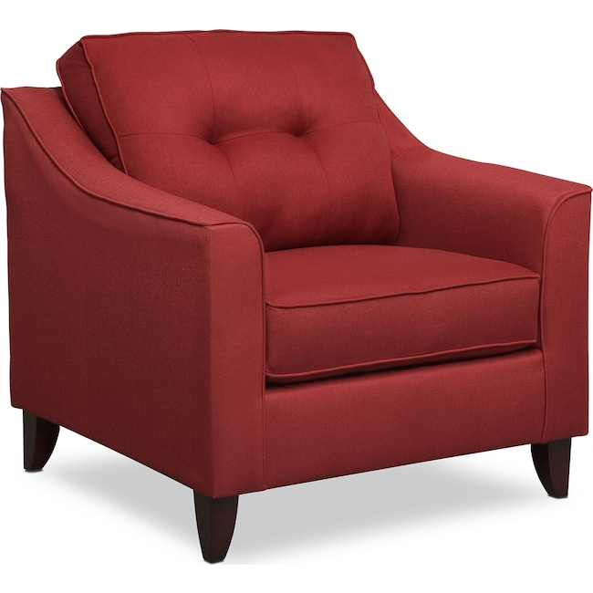 Living Room Furniture - Marco Red Chair - Red