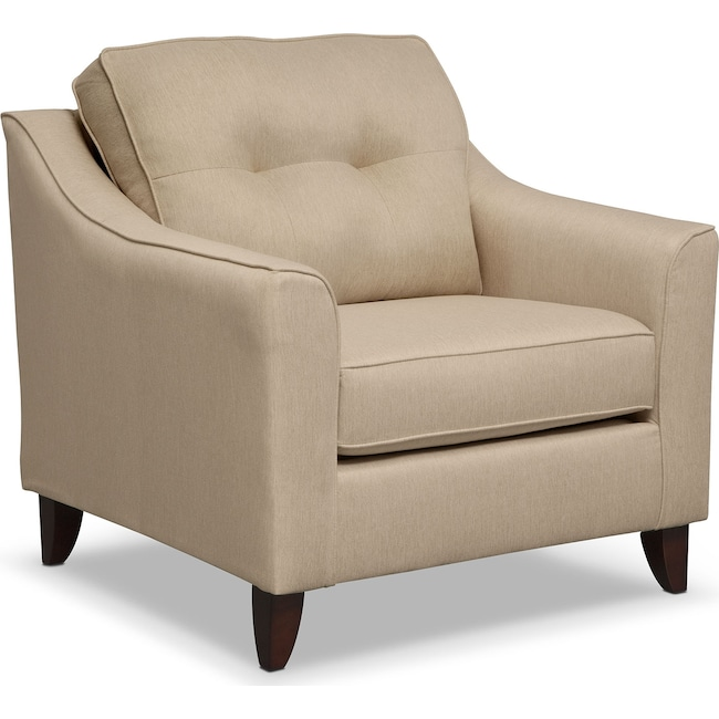 Living Room Furniture - Marco Chair - Cream