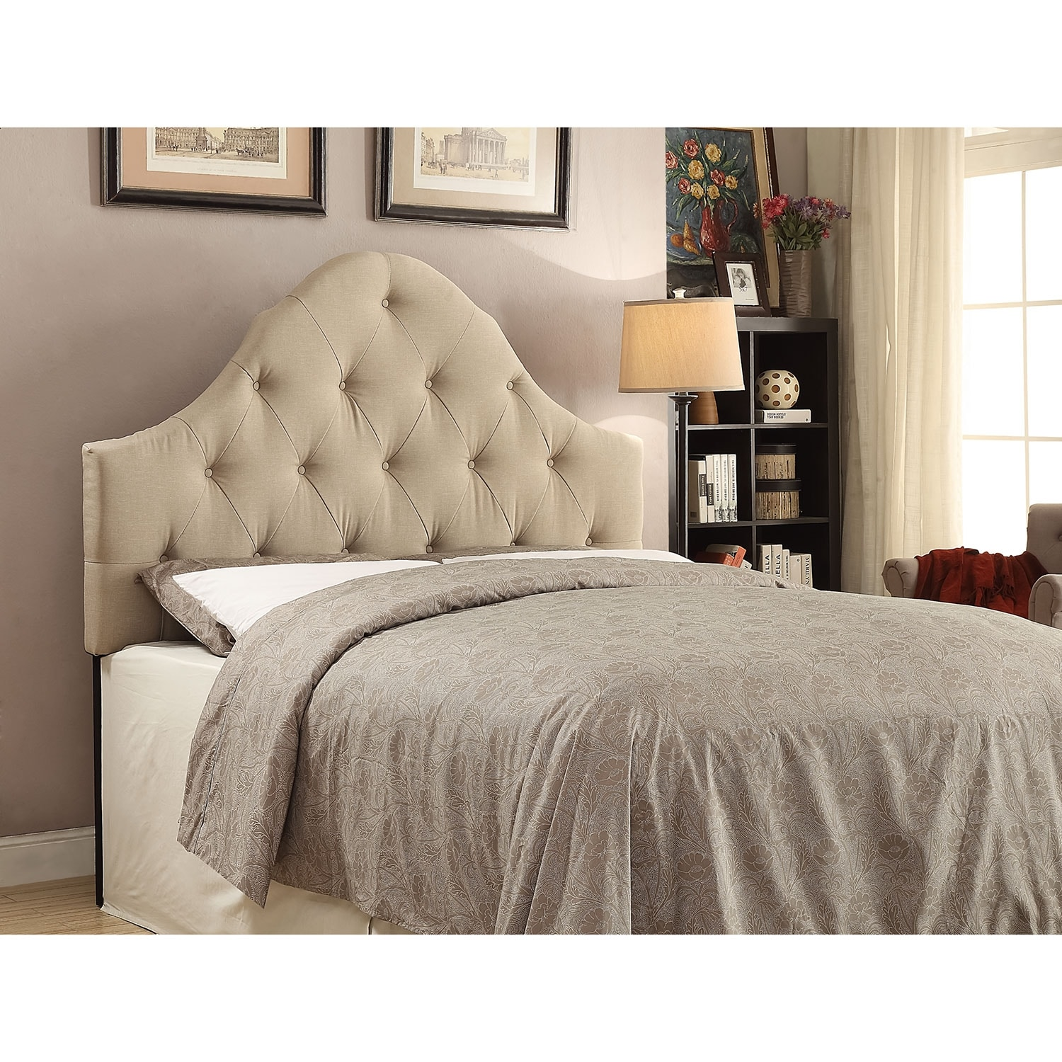Bedroom Furniture - Brittany Full/Queen Headboard - Beige