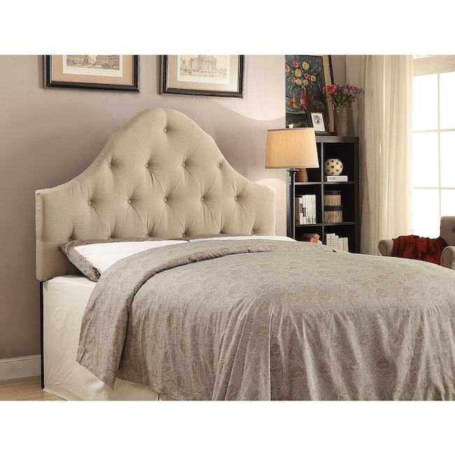 Bedroom Furniture - Brittany Full/Queen Headboard - Beige