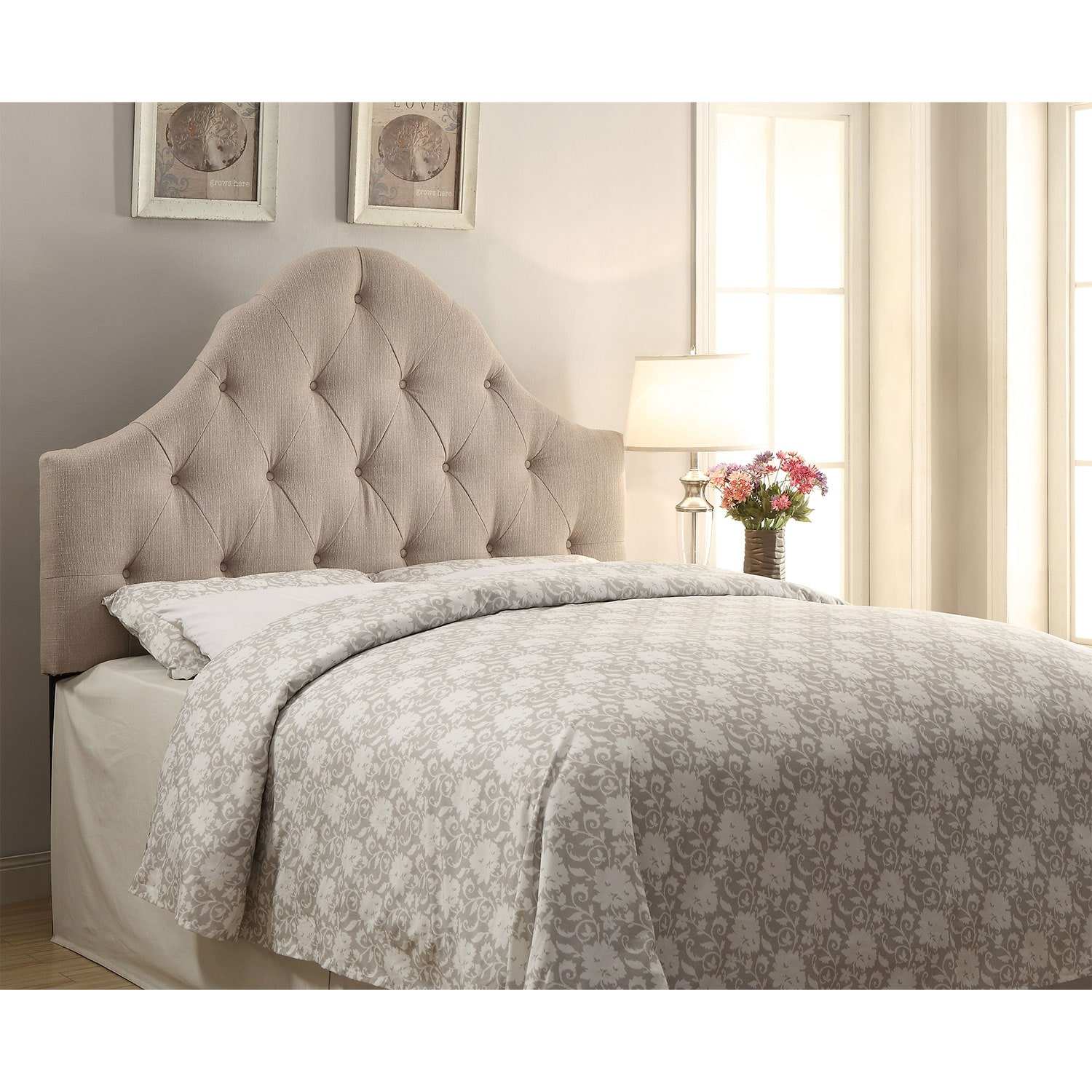 Brittany Full/Queen Headboard - Tan