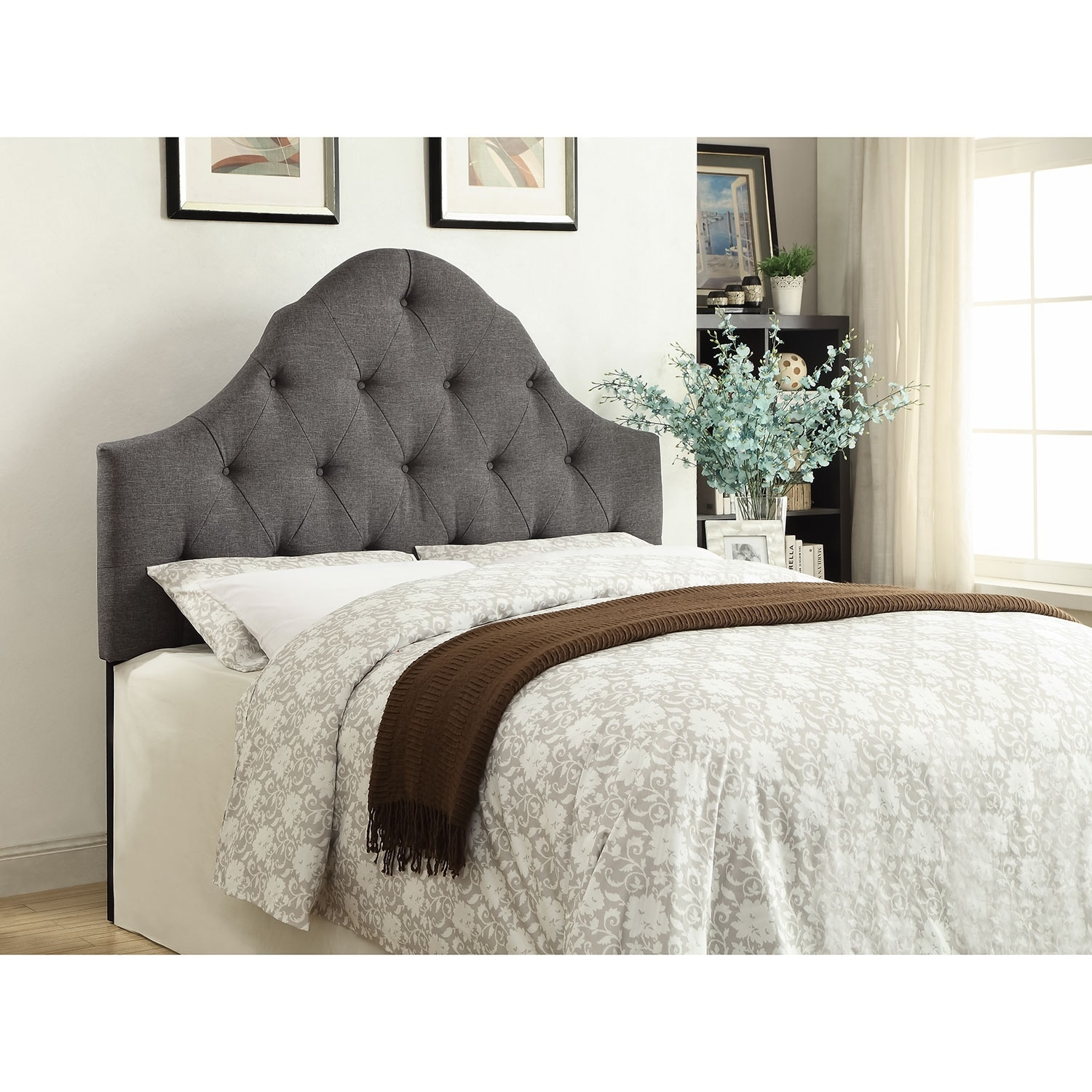 Brittany Full/Queen Headboard - Gray