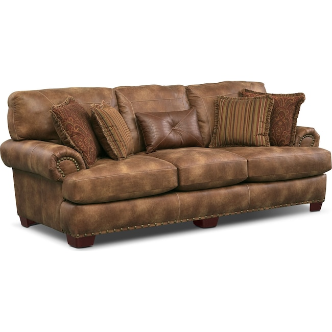 Living Room Furniture - Burlington Sofa - Cognac
