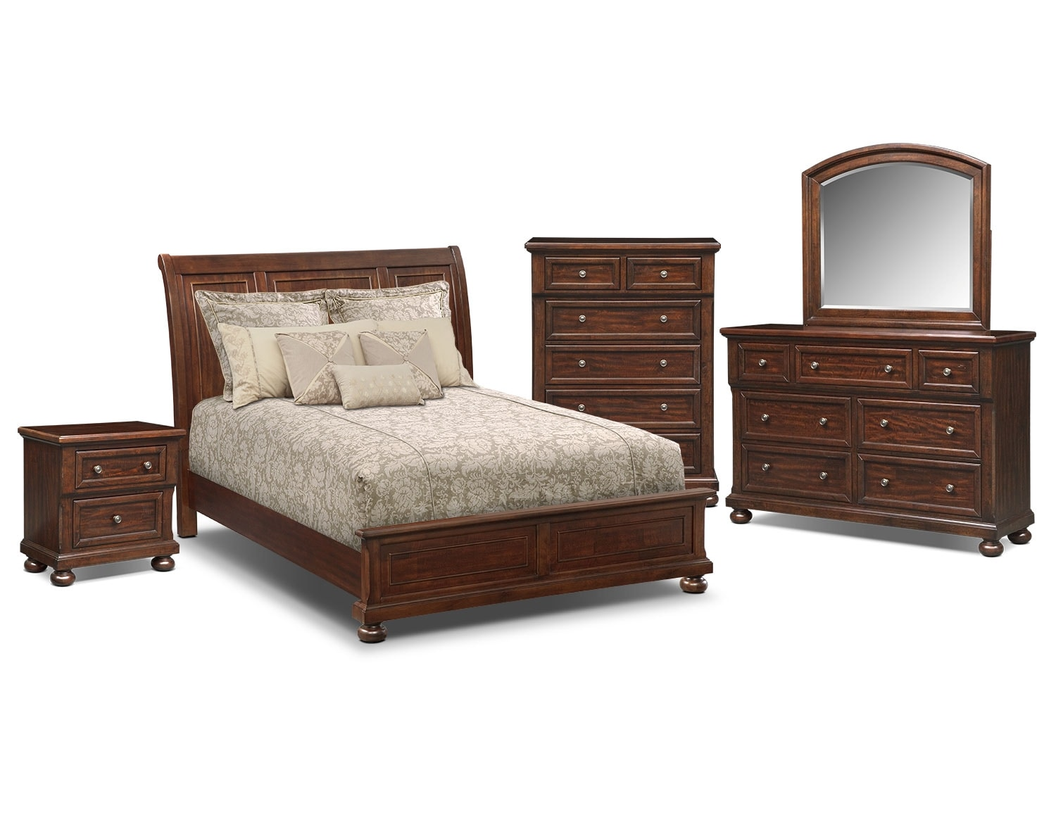 panel bedroom collection cherry american signature furniture
