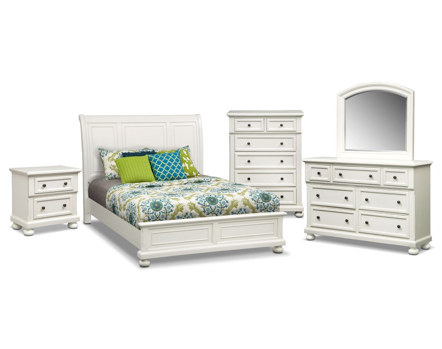 The Hanover Panel Bedroom Collection - White