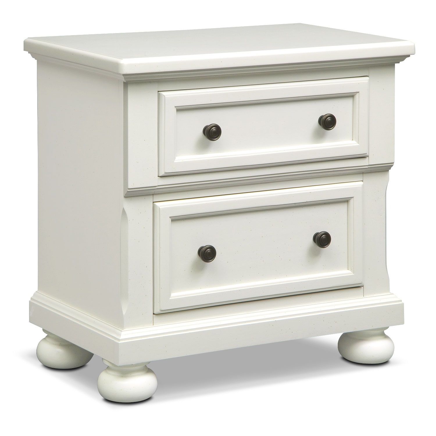 Bedroom Furniture - Hanover White Panel Nightstand