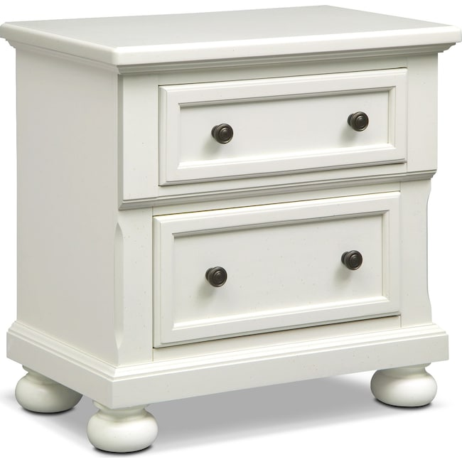 Bedroom Furniture - Hanover Nightstand - White