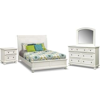 Hanover 6-Piece Queen Panel Bedroom Set - White