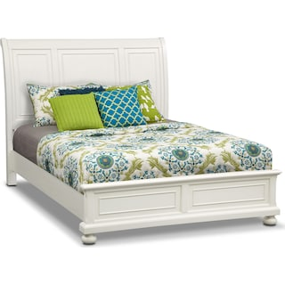 Hanover King Panel Bed - White