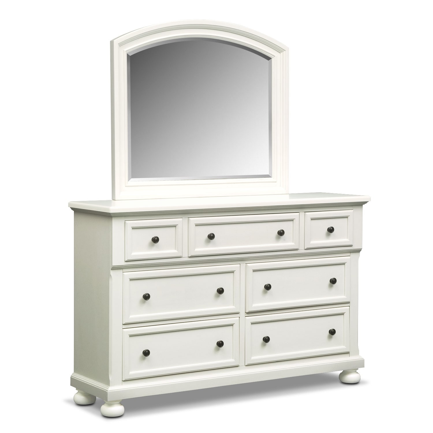 Hanover Dresser and Mirror - White