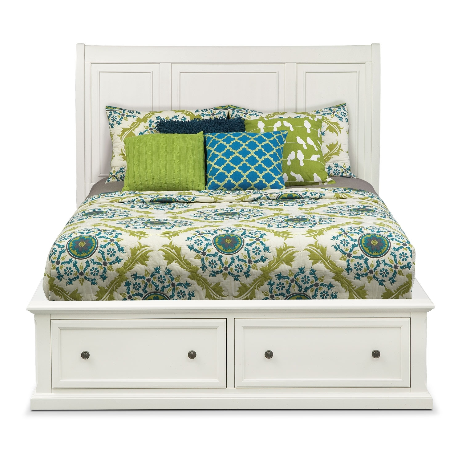 Click to change image.  sc 1 st  American Signature Furniture & Hanover Queen Storage Bed - White   American Signature Furniture