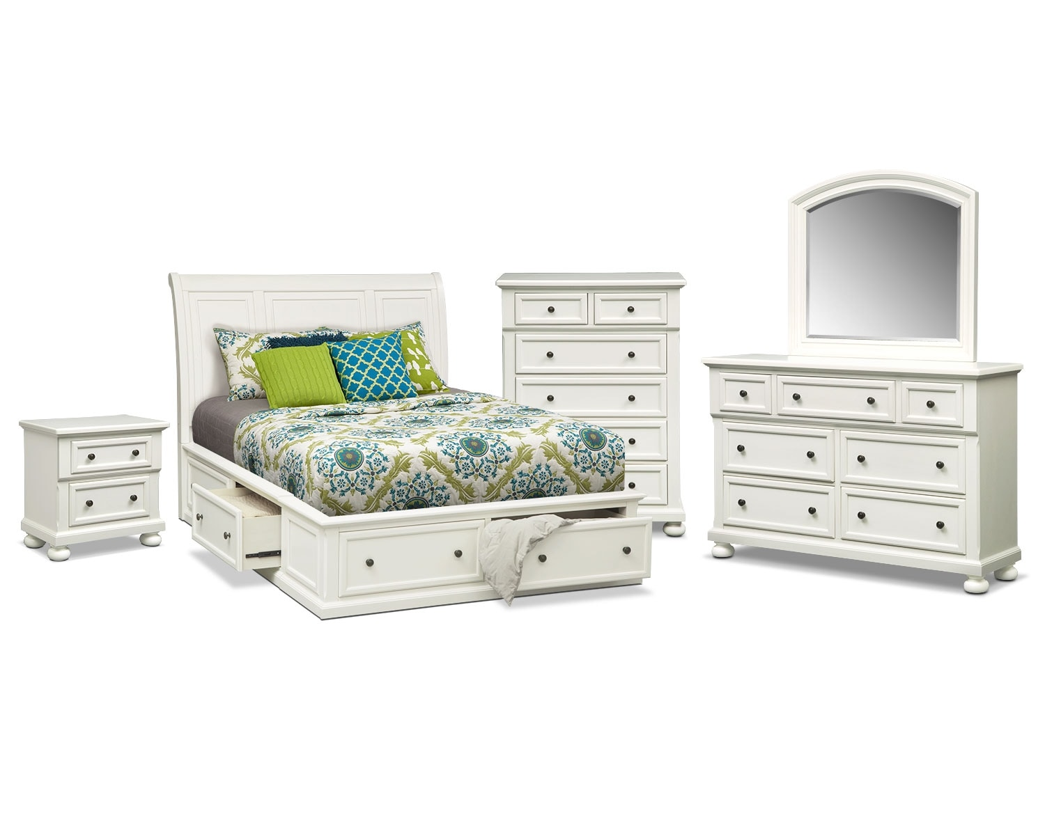 The Hanover Storage Bedroom Collection - White