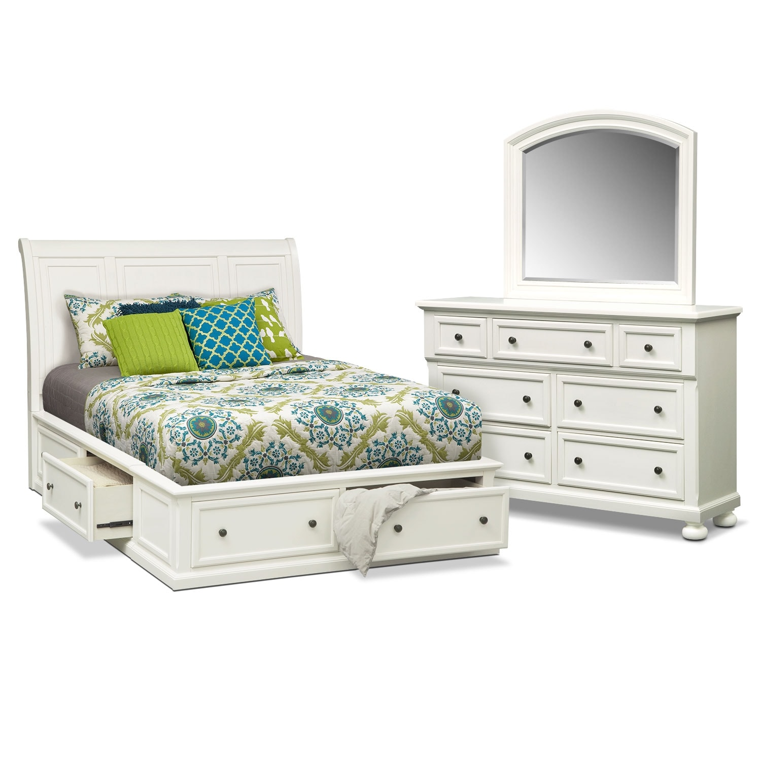 Hanover 5-Piece King Storage Bedroom Set - White