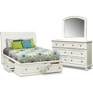 Hanover 5-Piece Queen Storage Bedroom Set - White