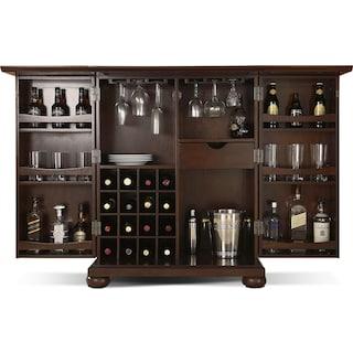 Renzo Bar Cabinet - Mahogany