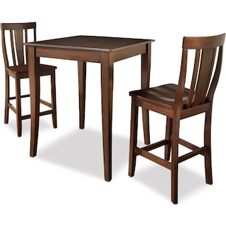West Pub Table and 2 Chairs - Mahogany