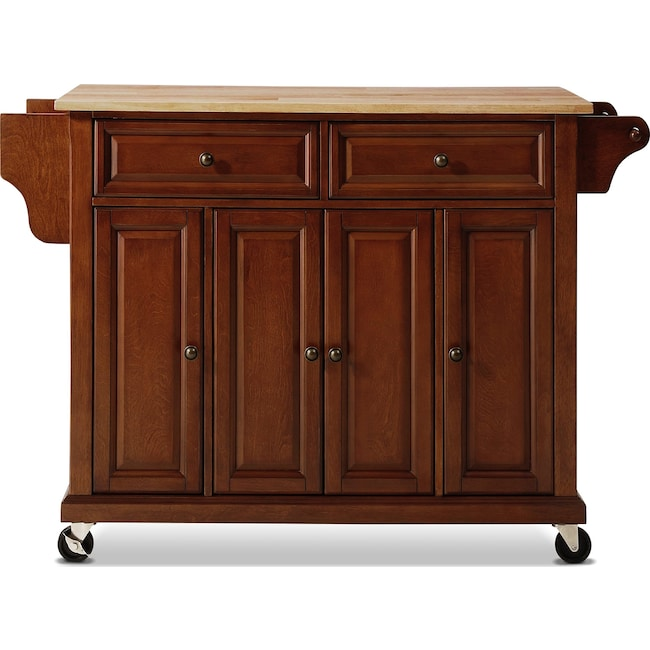 Accent and Occasional Furniture - Ravenna Kitchen Cart - Cherry