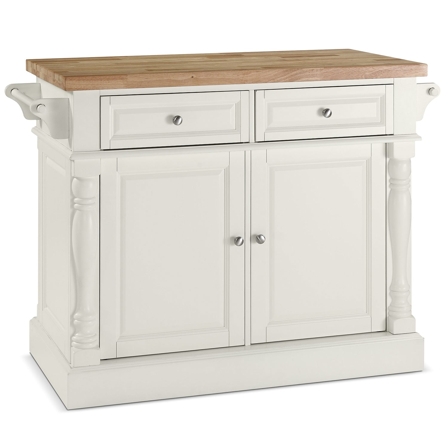 Griffin Kitchen Island - White