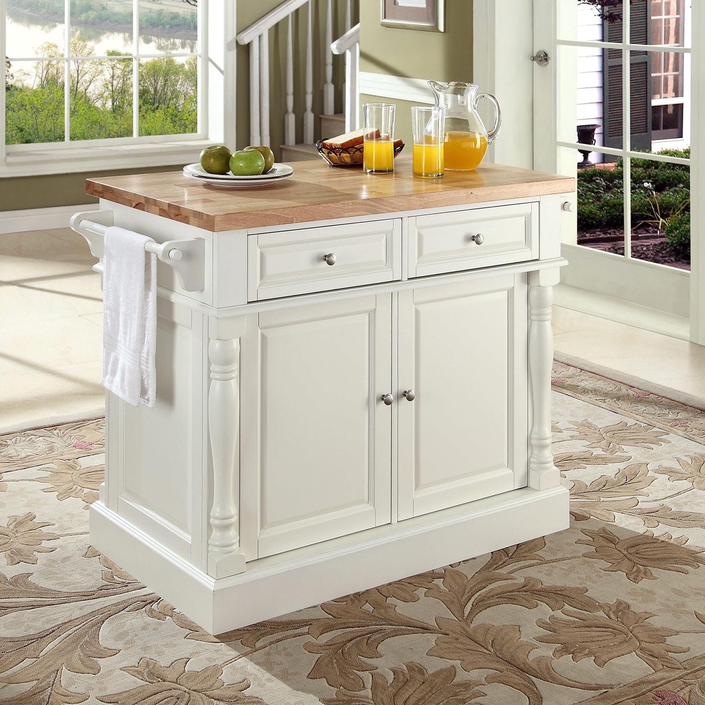 Griffin Kitchen Island - White | American Signature Furniture