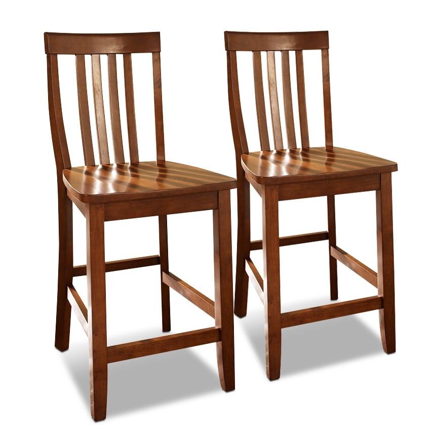 Dining Room Furniture - Harlowe 2-Pack Barstools - Cherry