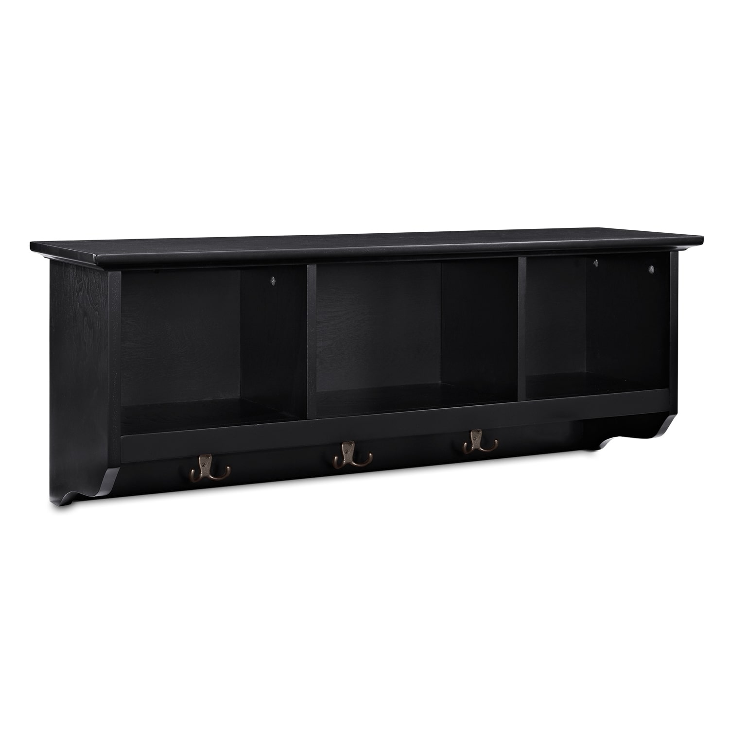 Accent and Occasional Furniture - Levi Black Entryway Storage Shelf