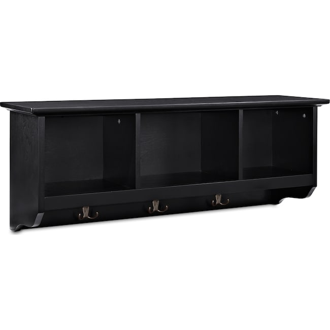 Accent and Occasional Furniture - Levi Entryway Storage Shelf - Black