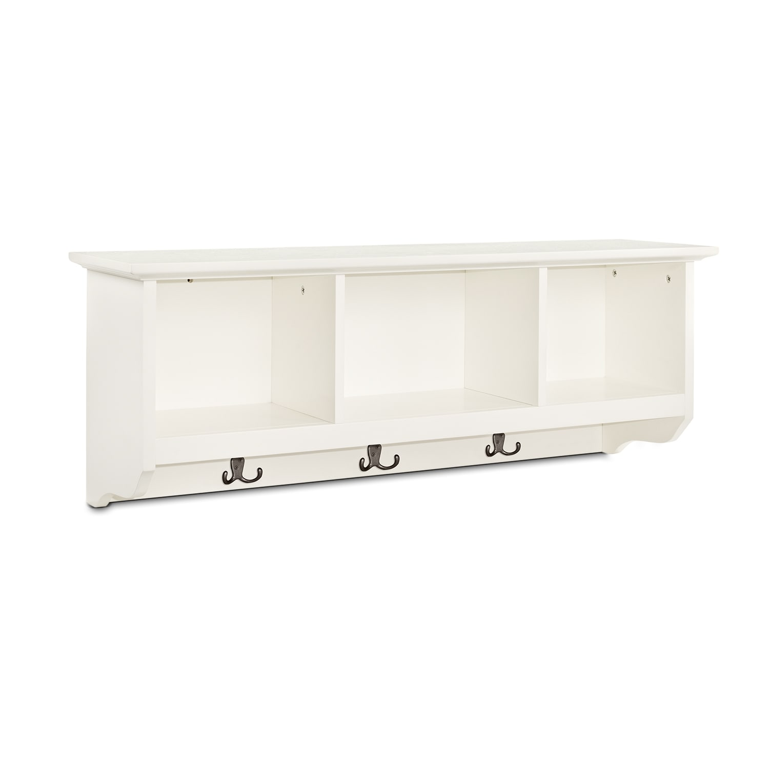 Accent and Occasional Furniture - Levi White Entryway Storage Shelf