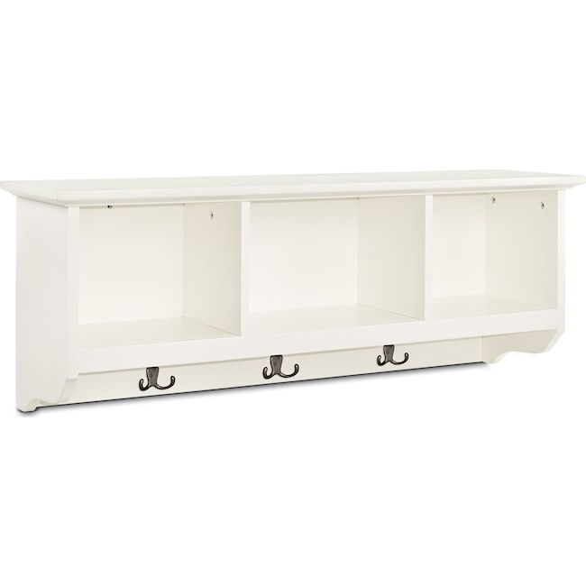 Accent and Occasional Furniture - Levi Entryway Storage Shelf - White